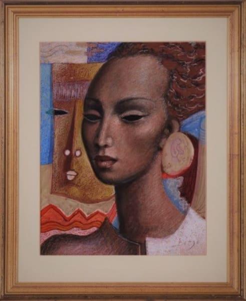 Junges Afrikanisches Mӓdchen (Young African Girl) by Antonio Diego Voci