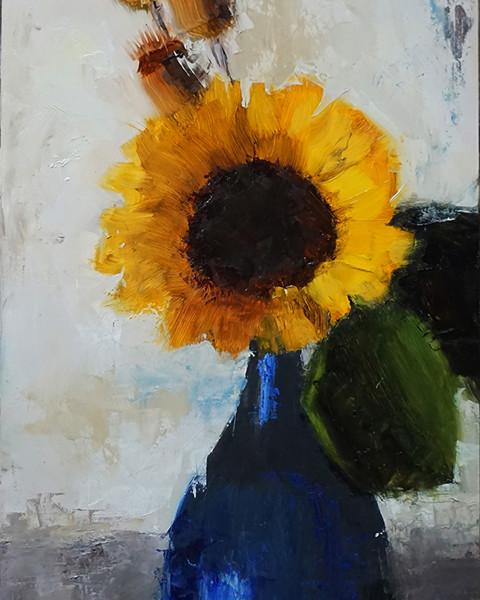 Sunflower In Blue