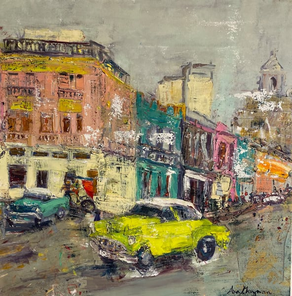 La Vida Cuba: Steet with Lime Car