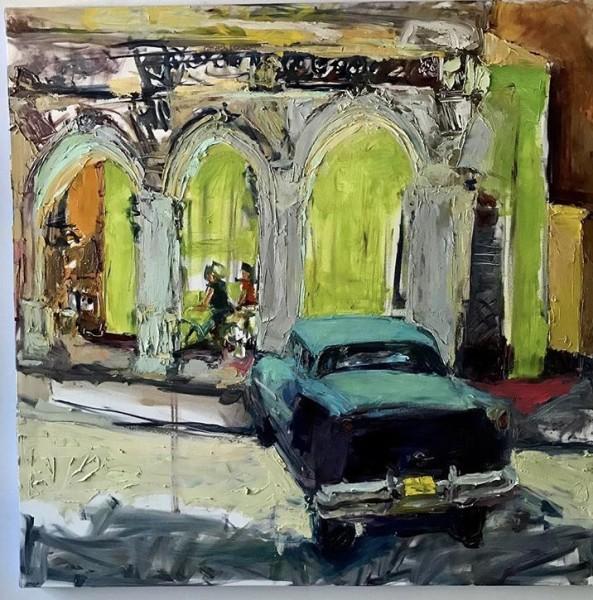 La Vida Cuba - Car in Green Corner
