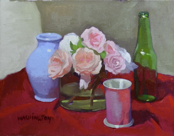 Pink Floral & Crimson