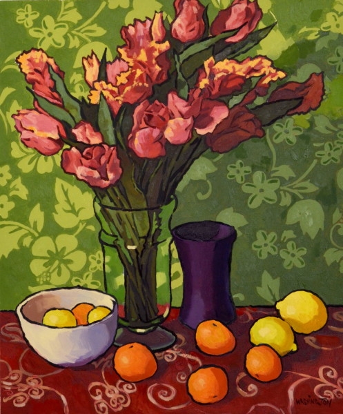 Red Tulips and Tangerines