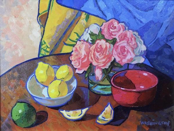 Pink Roses w/Lemons