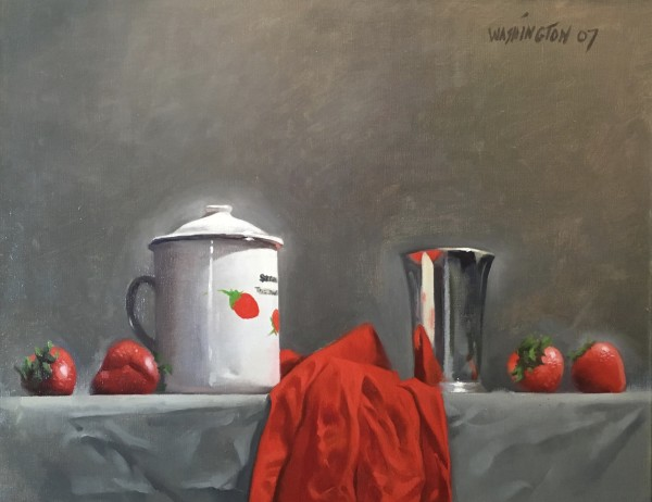 Strawberries w/Silver Cup