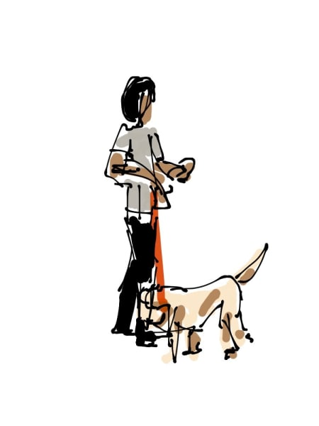 2018 - woman with tan dog #1 of 5