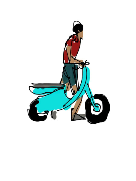 2019 - Blue Moped #1 of 5