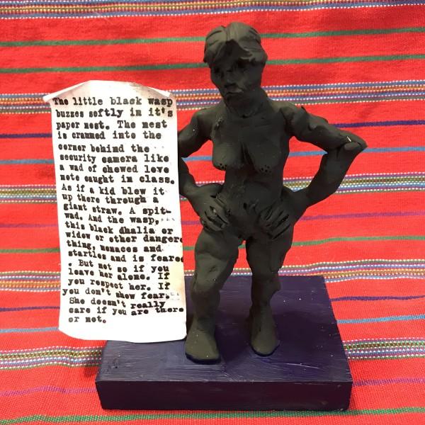 Contraposto Black Figurine