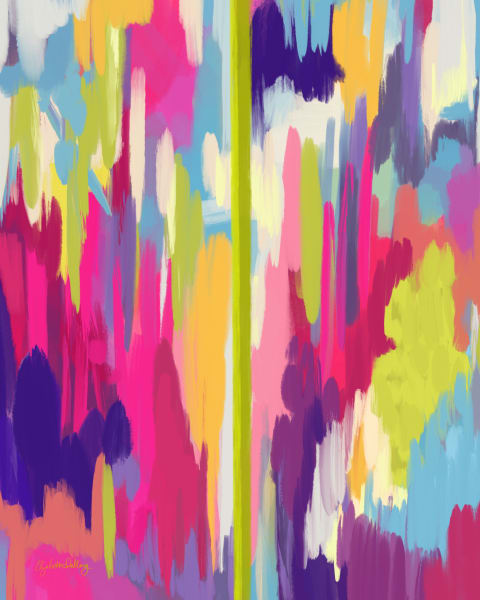 Colorful Abstract Number 02.