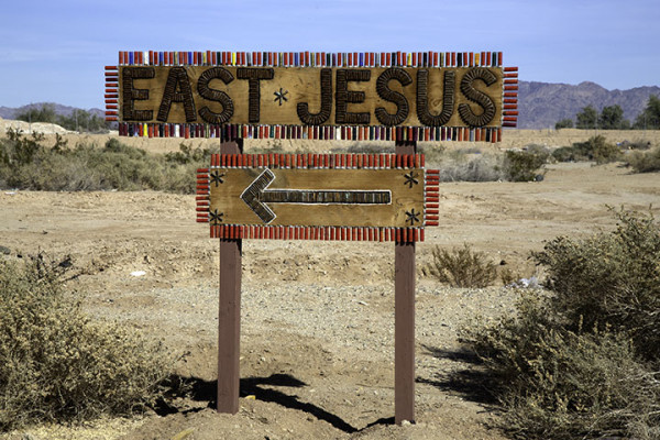 East Jesus Sign