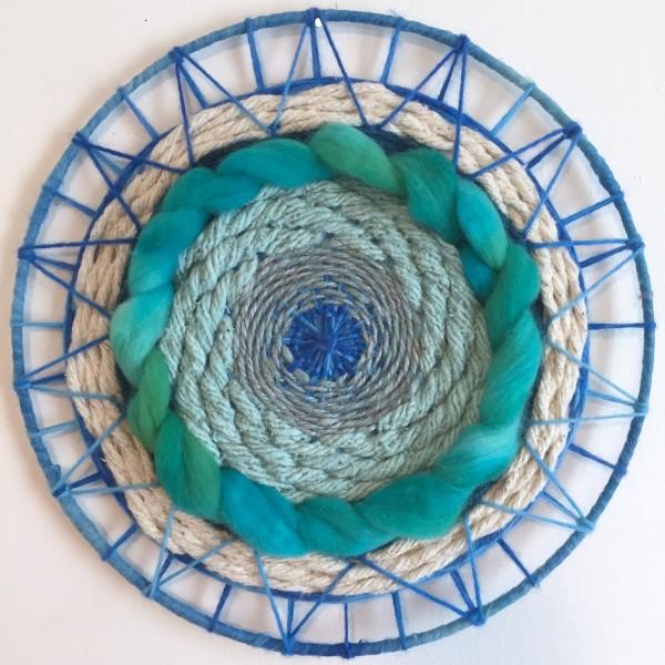 Blue Green Circular Weaving