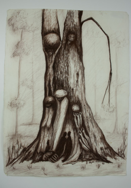MY TREEs, My Friends I, Drawing - Tree Series