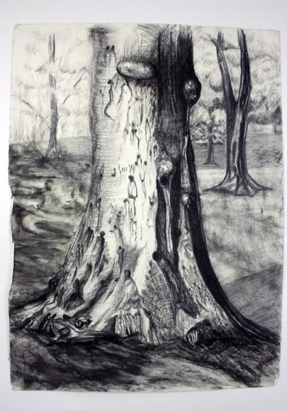My Trees, my friends II, Drawing - Tree series