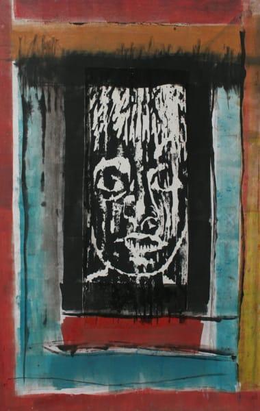 GIRL WINDOW, Print- Monoprint