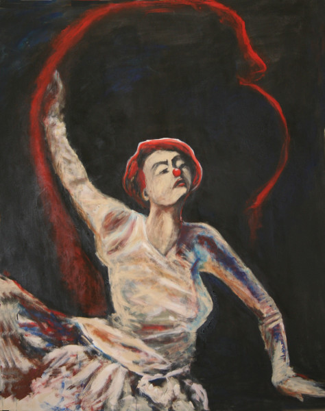 RED RIBBON-GRAND FINALE, Painting, Circus Series