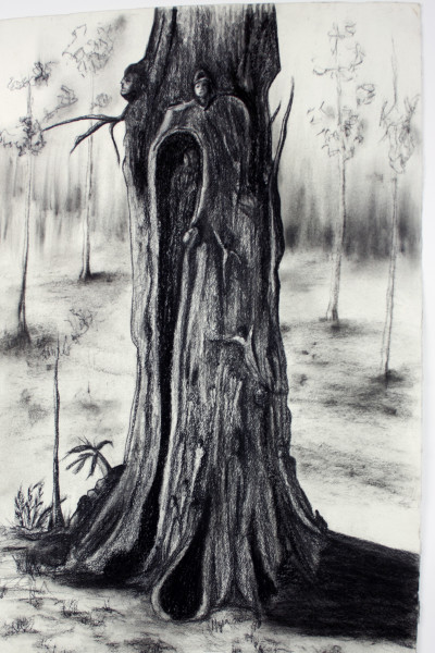 MY TREEs, my Friends III, Drawing - Tree Series