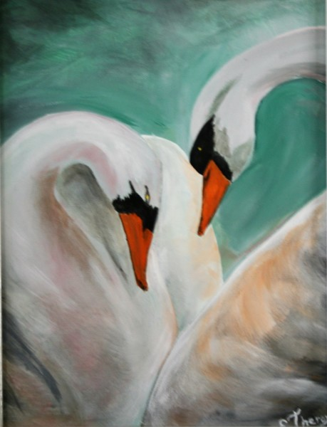 """Mating Swans"""