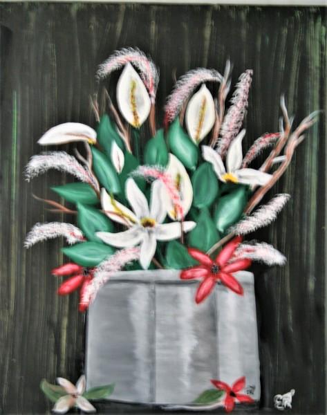 """""""Floral Spray in Silver Vase"""""""