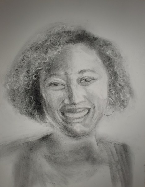 Portrait in Graphite - Amber