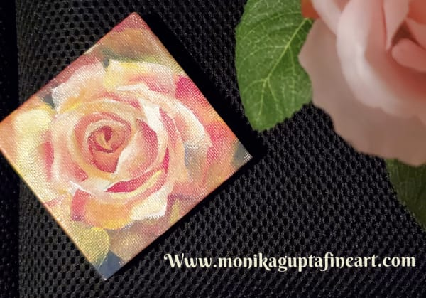 Mini Painting - Yellow Rose