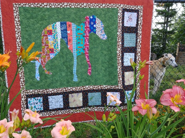 Greyhound Silhouette Quilt