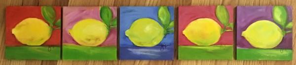 Lemons, After Matthew Johnson (Pink, Blue, Green, Orange)