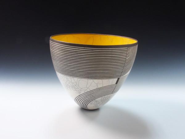 Black/White & Yellow Graphic Bowl