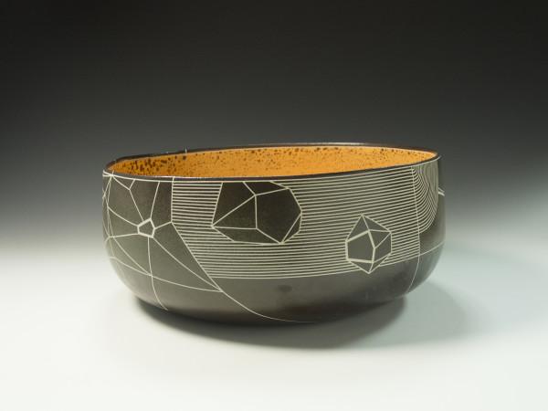 Organic Orange Graphic Bowl