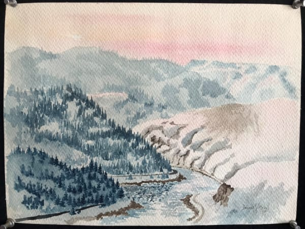 MitchellClearwaterRiverIDPreInstructionWatercolor1979