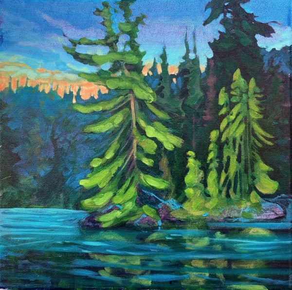 Evening, Pine and Spruce