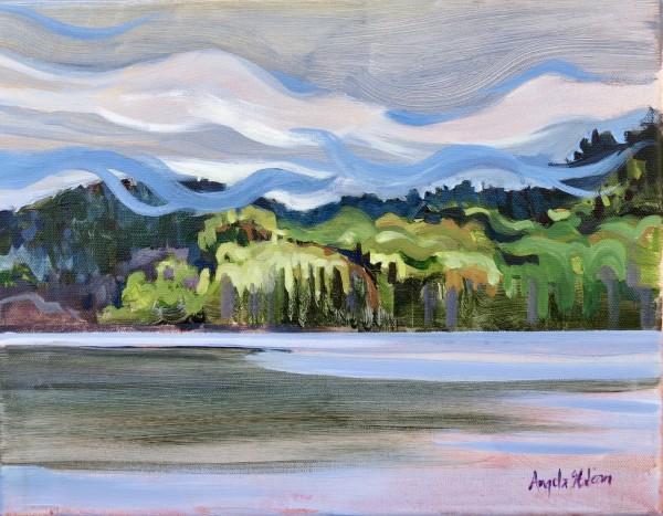 Mist Over Hills, Whitefish Lake