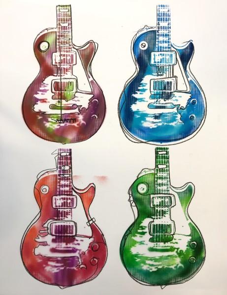 Four Les Pauls