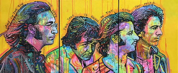 The Beatles Yellow Triptych