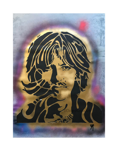 George Harrison retired stencil