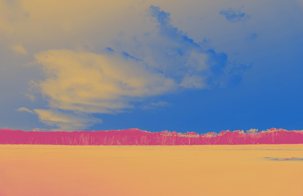 Cylinder Beach in Orange