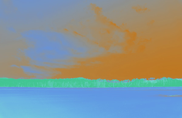 Cylinder Beach in Blue and Orange