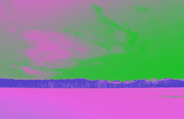 Cylinder Beach in Pink and Green