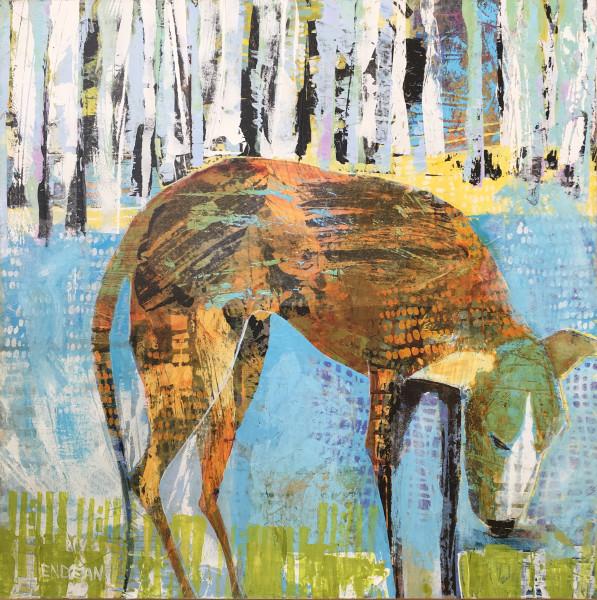 Dog with Birches