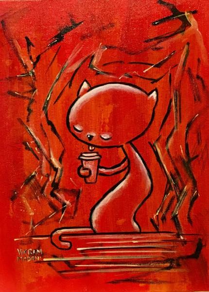 Ghost Cat - Coffee Drinker
