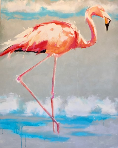 Beach Flamingo I