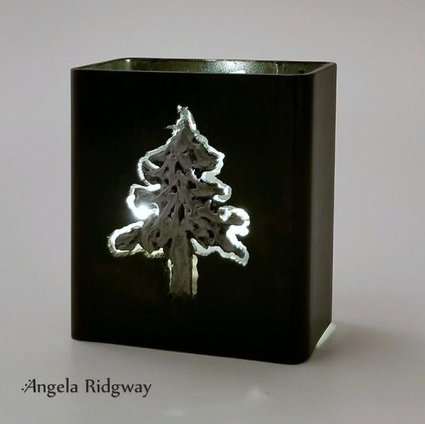 """fir tree light box ~ 4.5""""  (FT17)"""