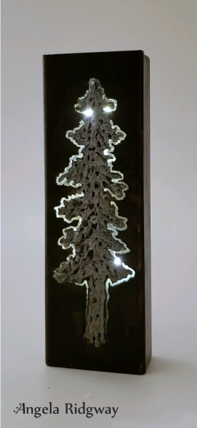 "fir tree light box ~ 9"" (FT24)"