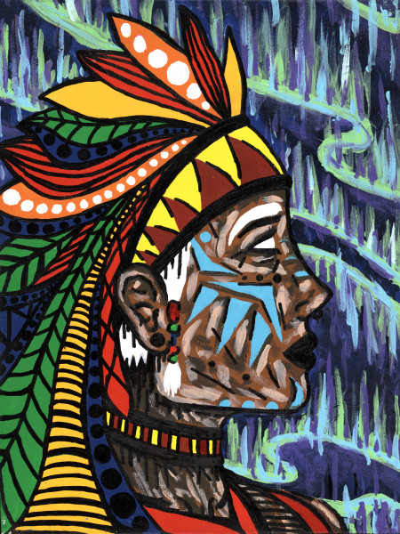 """""""Shaman"""" Limited Edition Prints Set of 20 #16 of 20"""