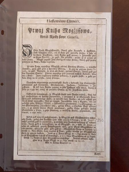 Bible of Kralice Folio