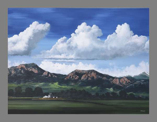 """""""West of Cherryvale"""" - Giclee on canvas / framed"""