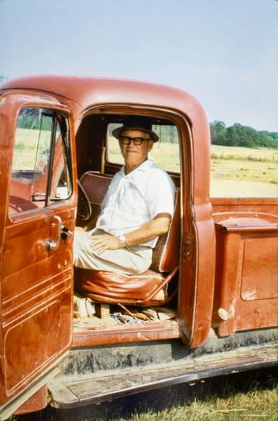 William Ferris Sr., hay field, Fisher Ferry Road, Warren County, Mississippi, 1963