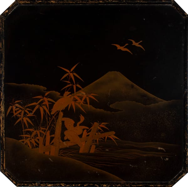 Japanese Lacquer Tray with Geese