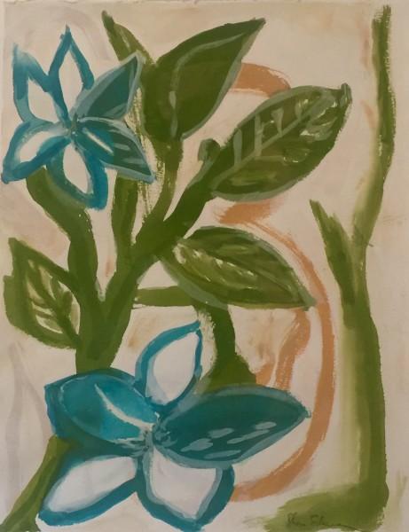 Blue-Green Boho Flora