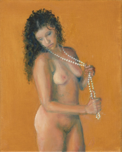 Nude with Pearls (golden)