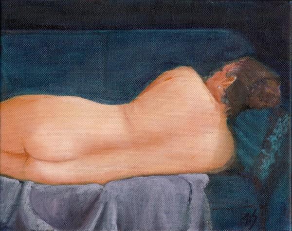 Nude Indigo (study)