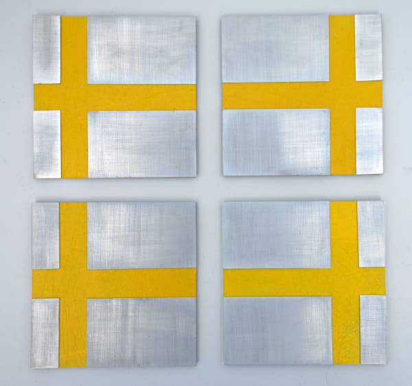 Yellow Grid (4 pc)